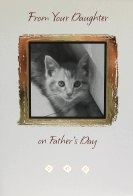 Cat Father's Day Card, From Your Daughter