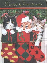 Cat Christmas Flag, Stocking Kittens