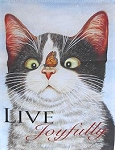 Cat Garden Flag, Hugo Hege, Live Joyfully