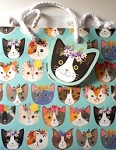Cat Gift Bag, Medium, Kitty Cats