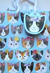 Cat Gift Bag, Small, Kitty Cats