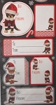 Cat Christmas Gift Labels, Kitty Christmas