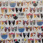 Cat Gift Wrap, Cat Wrapping Paper, Cat Gift Bag, Gift Bags With Cats, Gift Enclosure Card