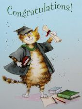 Cat Graduation Card, Congratulations
