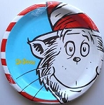 Cat In The Hat Paper Plates, Luncheon