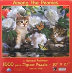Cat Jigsaw Puzzle, Among The Peonies