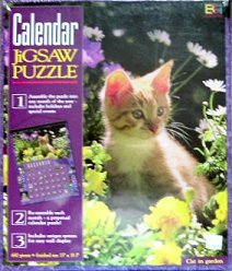 Cat Jigsaw Puzzle, Cat In Garden, Calendar