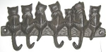 Cat Key Hook, Seven Cats, Cast Iron