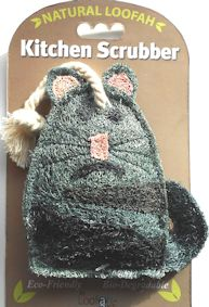 Cat Kitchen Scrubber, Loofah