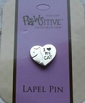 Cat Lapel Pin, I Love My Cat