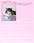 Cat List Pad, When I Get Around To It