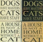 Cat Magnets: Cats Have Staff, House A Home