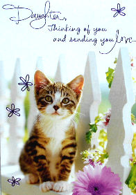 Cat Mother's Day Card, Daughter
