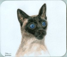 Cat Mouse Pad, Siamese Cat