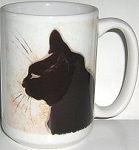 Black Cat Mug, Cat Face, Steinlen