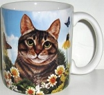 Brown Tabby Cat Mug, Pawsitively Purrfect