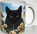 Black Cat Mug, Pawsitively Purrfect