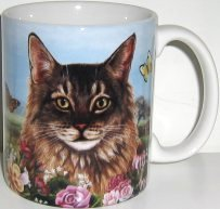 Maine Coon Cat Mug, Pawsitively Purrfect