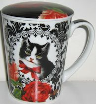 Cat Mug With Lid, Chat Parisien
