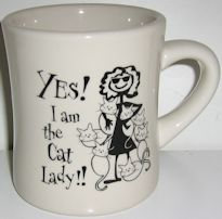 Cat Lady Mug, Yes I Am The Cat Lady
