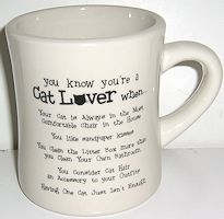 Cat Lover Cat Mug, You Know You Are A Cat Lover
