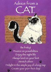 Cat Note Cards, Advice From A Cat