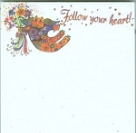 Cat Note Pad, Follow Your Heart, Laurel Burch