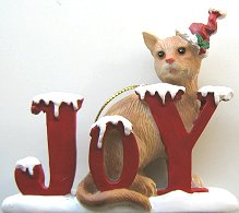 Cat Ornament, Joy, Orange Cat
