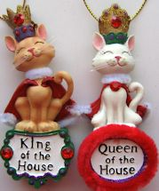 Cat Christmas Ornament, King Or Queen Of The House