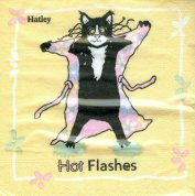 Cat Paper Napkins, Hot Flashes