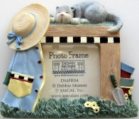 Cat Picture Frame, Gardening Bench