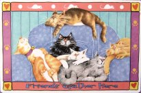 Cat Place Mat, Friends Gather Here