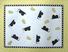 Cat Place Mat, Mouse & Cheese