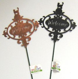 Cat Welcome Stake, Black Or Brass