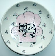Collectible Cat Plate, Cool Cat