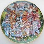 Collectible Cat Plate, Easter Purrade, Bill Bell