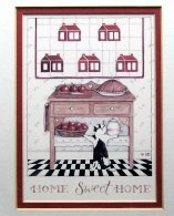Collectible Cat Print, Home Sweet Home