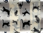 Cat Scarf, Cat Silhouettes, Bone, Oblong