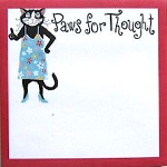 Cat Self Stick Notes, Paws For Thought