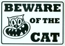 Collectible Cat Sign, Beware Of The Cat