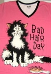 Cat Sleep Shirt, Bad Hair Day