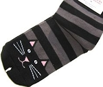 Cat Slipper Socks, Black Kitty