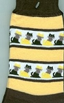 Cat Socks, Cats In A Row