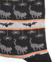 Halloween Cat Socks, Cats And Spiders
