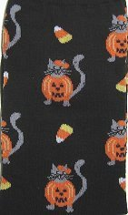 Halloween Cat Socks, Kitty In Pumpkin Costume