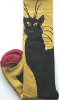 Knee High Black Cat Socks, Chat Noir
