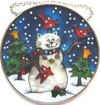 Cat Sun Catcher, Cat Snowman
