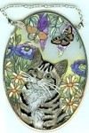 Cat Sun Catcher, Cat With Butterflies