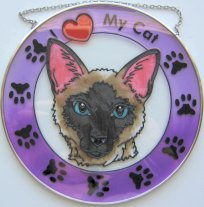 Cat Sun Catcher, I Love My Cat, Siamese