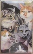 Cat Light Switch Cover, Single, Just Cats